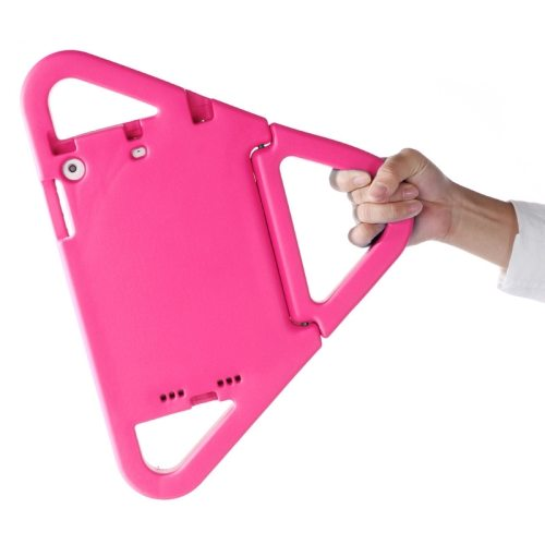 EVA Triangle Bumper Portable Protective Case with Handle & Holder for iPad Mini 1 / 2 / 3 (Pink)