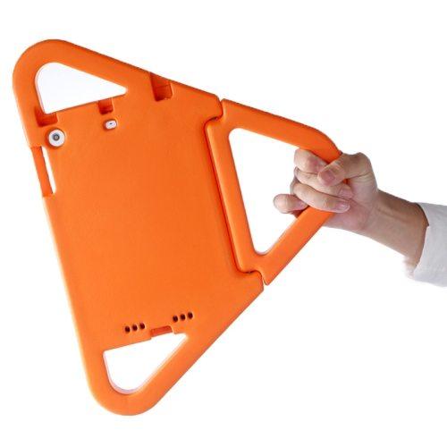 EVA Triangle Bumper Portable Protective Case with Handle & Holder for iPad Mini 1 / 2 / 3 (Orange)