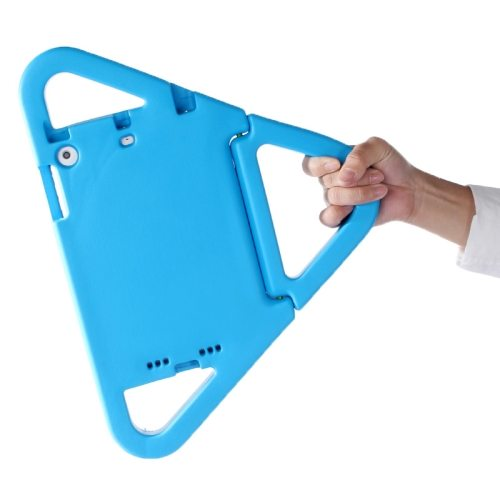 EVA Triangle Bumper Portable Protective Case with Handle & Holder for iPad Mini 1 / 2 / 3 (Blue)