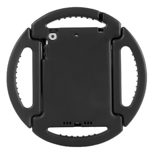 EVA Disk Style Portable Protective Bumper Cover for iPad Mini 1/ 2/ 3 with Handle and Holder (Black)