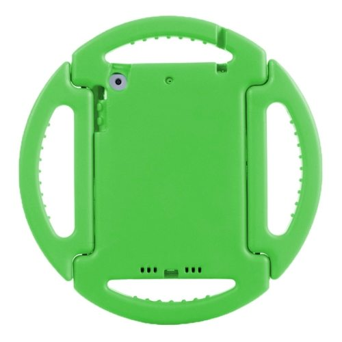 EVA Disk Style Portable Protective Bumper Cover for iPad Mini 1/ 2/ 3 with Handle and Holder (Green)