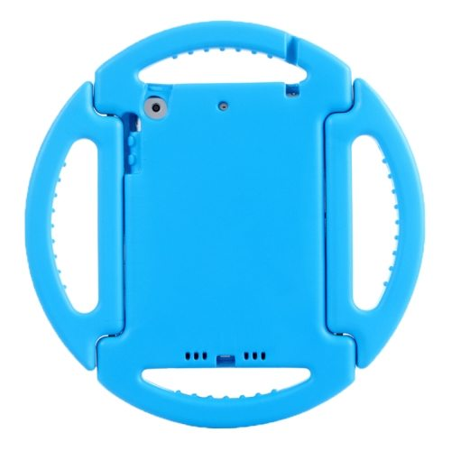 EVA Disk Style Portable Protective Bumper Cover for iPad Mini 1/ 2/ 3 with Handle and Holder (Blue)