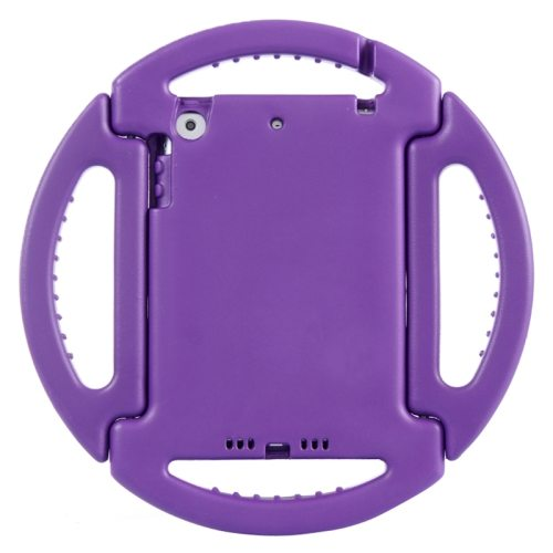 EVA Disk Style Portable Protective Bumper Cover for iPad Mini 1/ 2/ 3 with Handle and Holder (Purple)