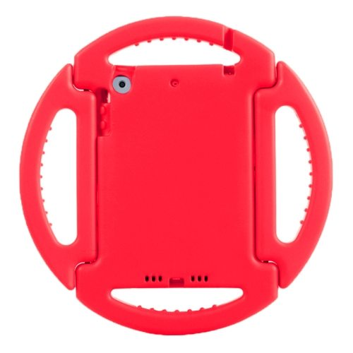 EVA Disk Style Portable Protective Bumper Cover for iPad Mini 1/ 2/ 3 with Handle and Holder (Red)