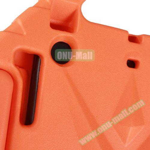 Rhombus Bumper Portable Protective EVA Foam Case for iPad Mini 1 / 2 / 3 with Holder (Orange)