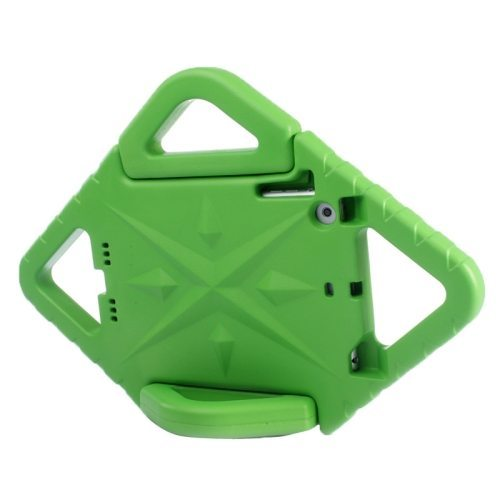 Rhombus Bumper Portable Protective EVA Foam Case for iPad Mini 1 / 2 / 3 with Holder (Green)