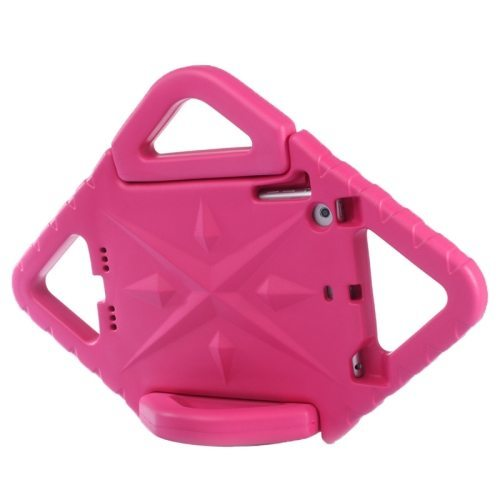 Rhombus Bumper Portable Protective EVA Foam Case for iPad Mini 1 / 2 / 3 with Holder (Rose)