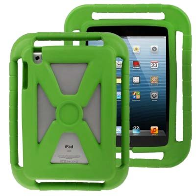 Hollow Style Shockproof EVA Foam Protective Case for iPad mini 1/ 2/ 3 with Handle (Green)