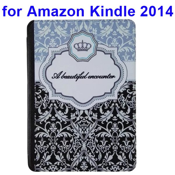 Creative Designs Color Painting Flip Leather Case for Amazon Kindle 2014 (Crown Pattern)