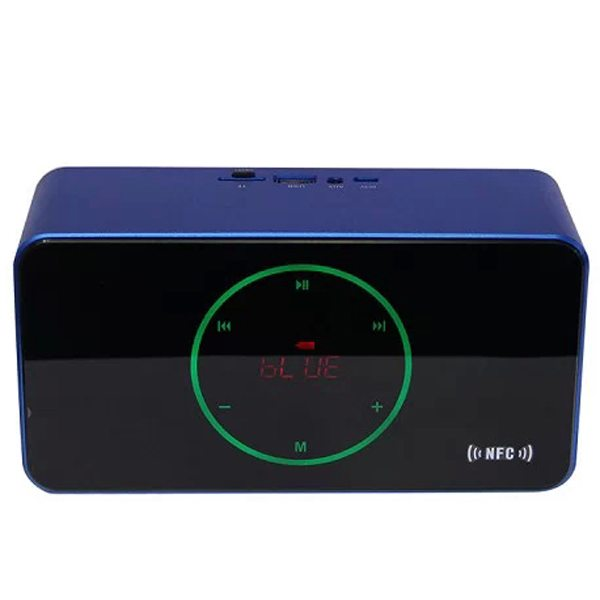 KR-8200NFC Light-sensitive Touch Style Bluetooth Speaker Capable of Voice Instruction, Hands-free Call and USB Flash Drives (Blue)