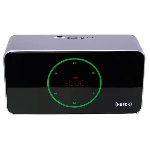 KR-8200NFC Light-sensitive Touch Style Bluetooth Speaker Capable of Voice Instruction, Hands-free Call and USB Flash Drives (Silver)