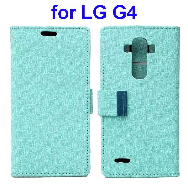 New Design Maze Pattern PU Wallet Leather Flip Cover for LG G4 (Green)
