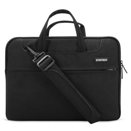 POFOKO 12 inch Portable Single Shoulder Laptop Bag (Black)