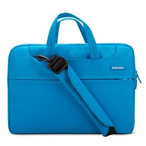 POFOKO 12 inch Portable Single Shoulder Laptop Bag (Blue)