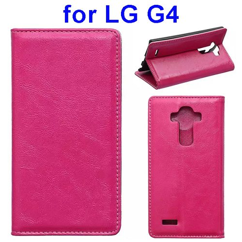 Waxing Crazy Horse Texture Leather Flip Case for LG G4 with Card Slots & Stand (Rose)
