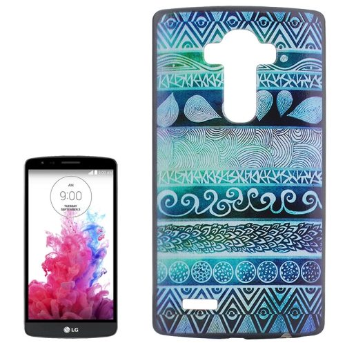 Creative Designs Protective Hard Plastic Case for LG G4 (Green Flowers Pattern)