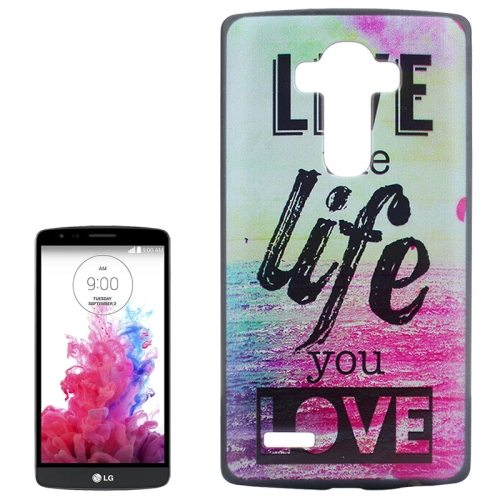 Creative Designs Protective Hard Plastic Case for LG G4 (Live the Life You Love Pattern)