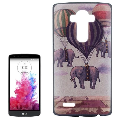 Creative Designs Protective Hard Plastic Case for LG G4 (Flying Elephants Pattern)