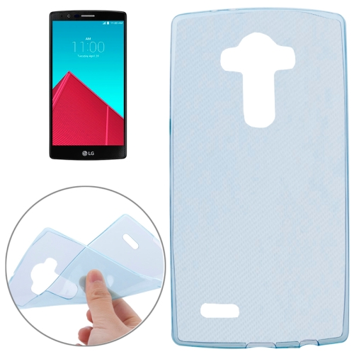 2015 New Products Soft Clear Protective Cover for LG G4 (Blue)