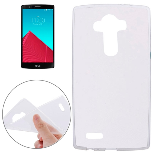 2015 New Products Soft Clear Protective Cover for LG G4 (White)