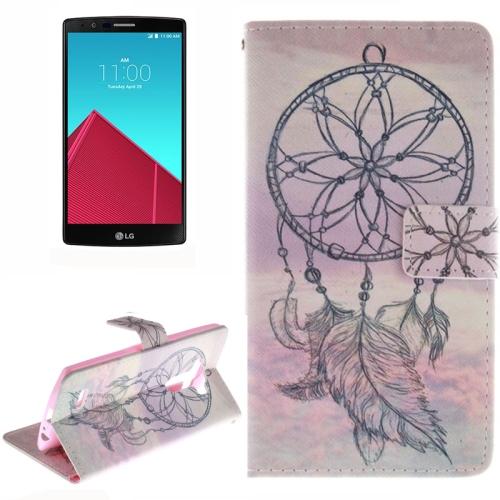 Wallet Pattern Flip Leather Case for LG G4 with Holder & Card Slots (Dreamcatcher Pattern)