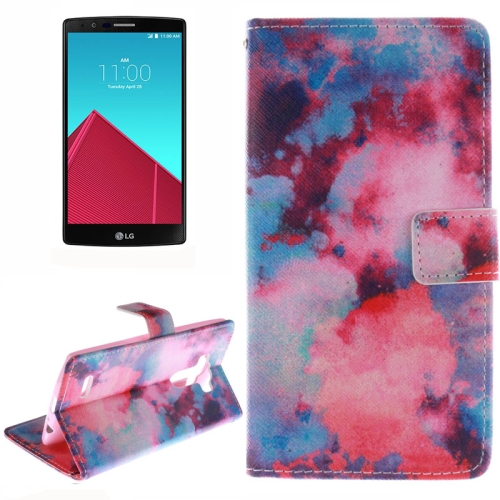 Wallet Pattern Flip Leather Case for LG G4 with Holder & Card Slots (Clouds Pattern)