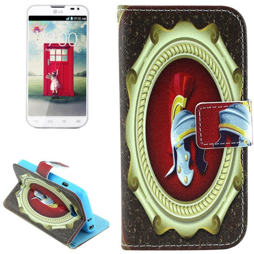 Color Pattern Flip Stand Leather Mobile Phone Wallet Case for LG L90 (Magic Mirror)