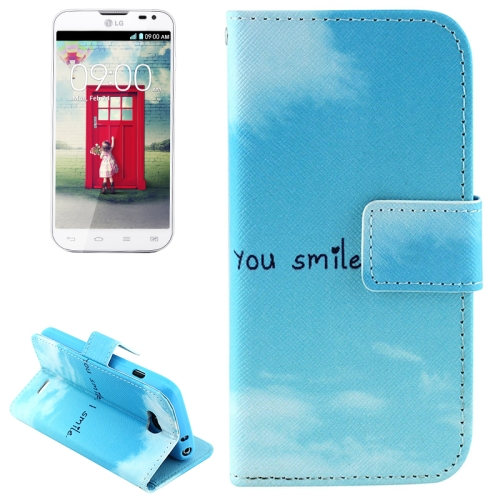 Color Pattern Flip Stand Leather Mobile Phone Wallet Case for LG L90 (You Smile)