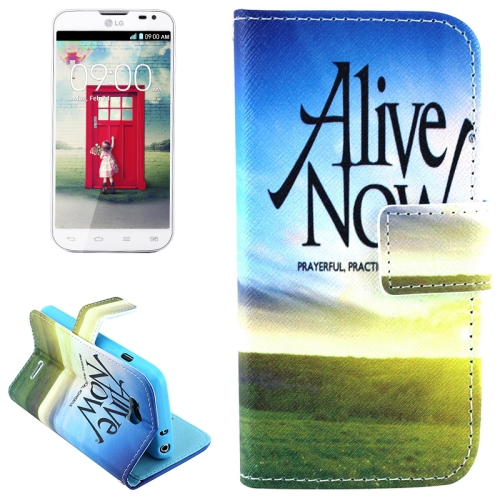 Color Pattern Flip Stand Leather Mobile Phone Wallet Case for LG L90 (Alive Now)