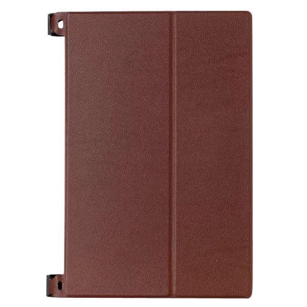 Karst Texture 2-Folding Style Leather Case for Lenovo Yoga Tablet 2 8 inch (Brown)