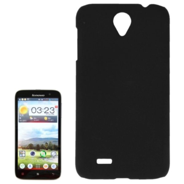 Factory Price Pure Color Plastic Back Cover Protective Case for Lenovo A850(Black)