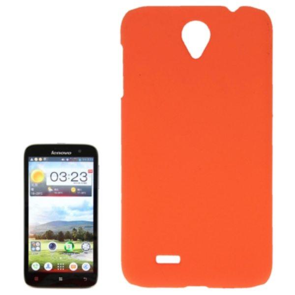 Factory Price Pure Color Plastic Back Cover Protective Case for Lenovo A850(Orange)
