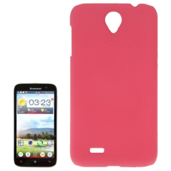 Factory Price Pure Color Plastic Back Cover Protective Case for Lenovo A850(Pink)
