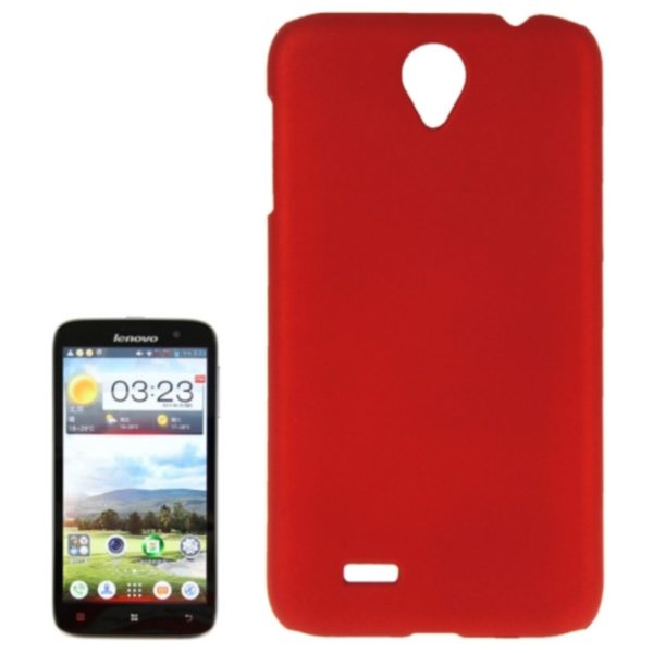 Factory Price Pure Color Plastic Back Cover Protective Case for Lenovo A850(Red)