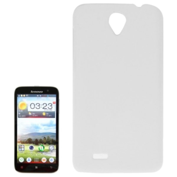 Factory Price Pure Color Plastic Back Cover Protective Case for Lenovo A850(White)