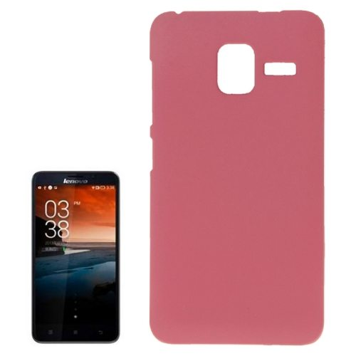 Pure Color Style Anti-Scratch Hard Plastic Case for Lenovo A850+ (Pink)