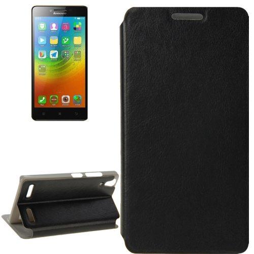 Crazy Horse Texture Ultrathin Flip Leather Case for Lenovo Lemon K3/ K30 (Black)