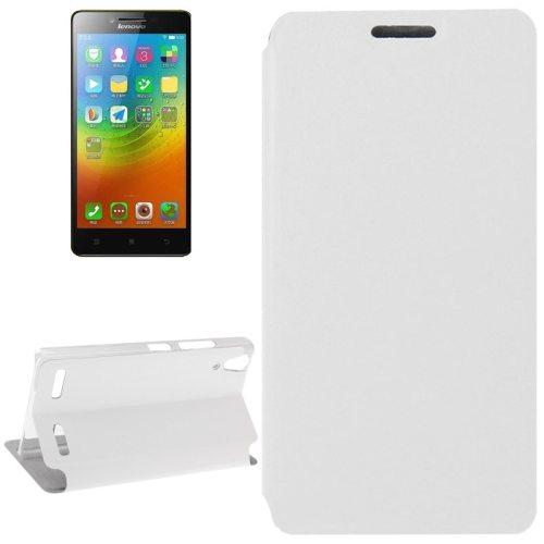 Crazy Horse Texture Ultrathin Flip Leather Case for Lenovo Lemon K3/ K30 (White)