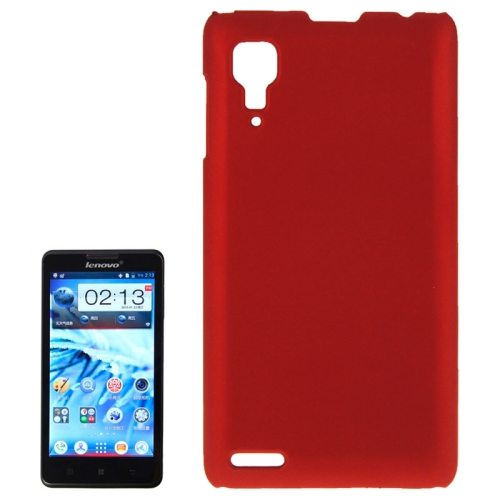 Pure Color Style Anti-Scratch Hard Plastic Case for Lenovo P780 (Red)
