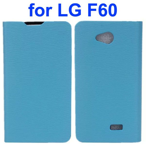 Wood Texture PU Leather Flip Case for LG F60 (Blue)