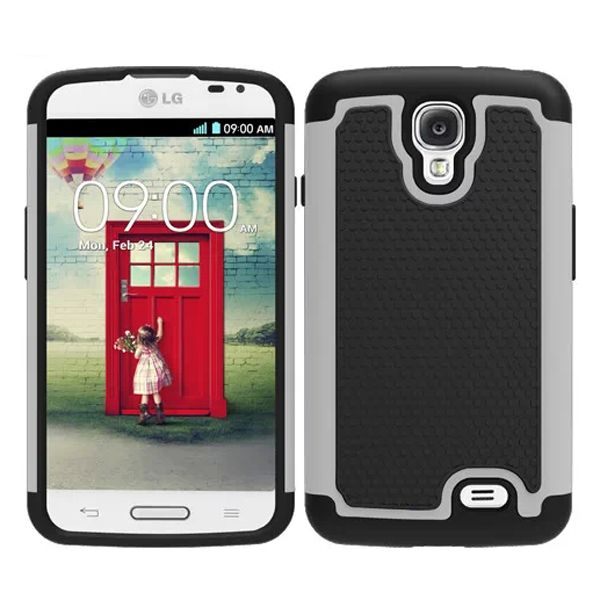 Football Texture Hybrid Rugged Protective Case for LG F70 (White)