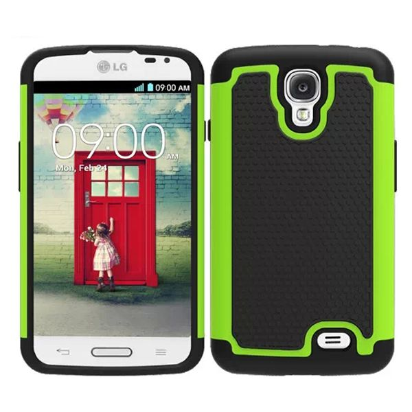 Football Texture Hybrid Rugged Protective Case for LG F70 (Green)