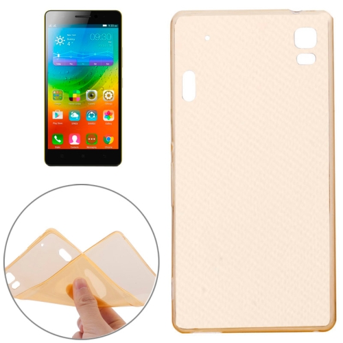 Soft Transparent TPU Protective Case for Lenovo K3 Note (Yellow)