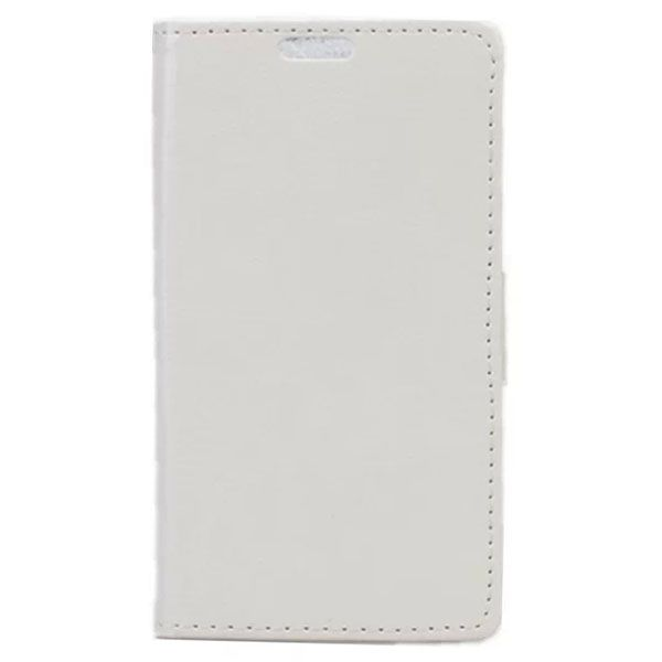Crazy Horse Texture Wallet Style PU Leather Flip Case for LG L Bello with Card Slots (White)