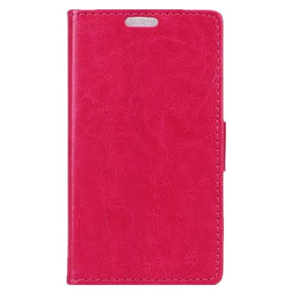 Crazy Horse Texture Wallet Style PU Leather Flip Case for LG L Bello with Card Slots (Rose)