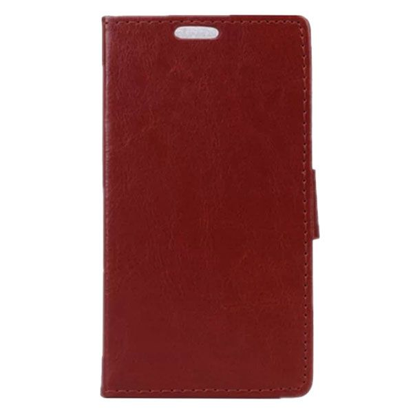 Crazy Horse Texture Wallet Style PU Leather Flip Case for LG L Bello with Card Slots (Brown)