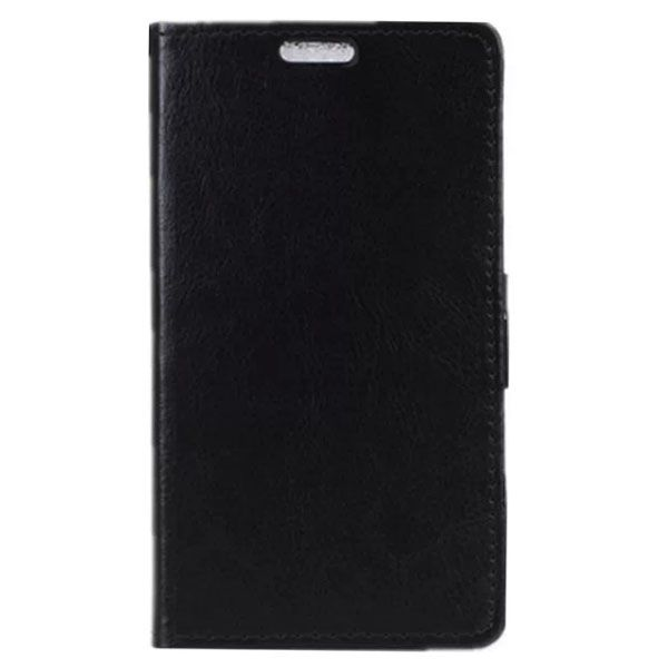 Crazy Horse Texture Wallet Style PU Leather Flip Case for LG L Bello with Card Slots (Black)