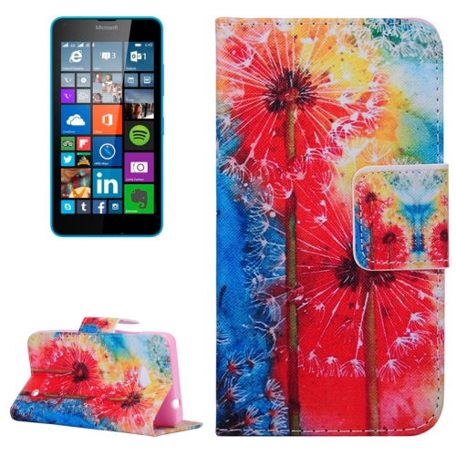 Dandelion Pattern Flip Leather Wallet Case for Microsoft Lumia 640 with Card Slots & Stand (Pattern 1)