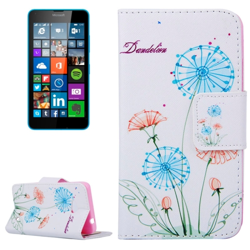 Dandelion Pattern Flip Leather Wallet Case for Microsoft Lumia 640 with Card Slots & Stand (Pattern 2)