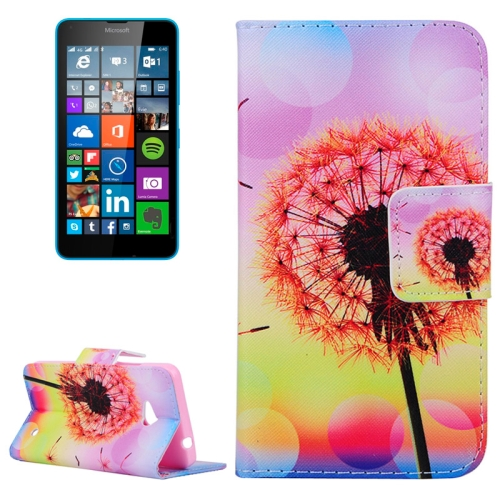Dandelion Pattern Flip Leather Wallet Case for Microsoft Lumia 640 with Card Slots & Stand (Pattern 4)